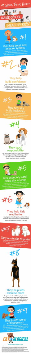9 good reasons to get a pet for your kids infographic