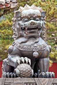 Statue of lion dog